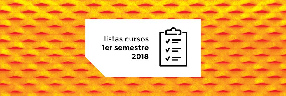 Listas del 1er. semestre 2018 de la Lic. en Diseño Industrial actualizada el 05/04/18