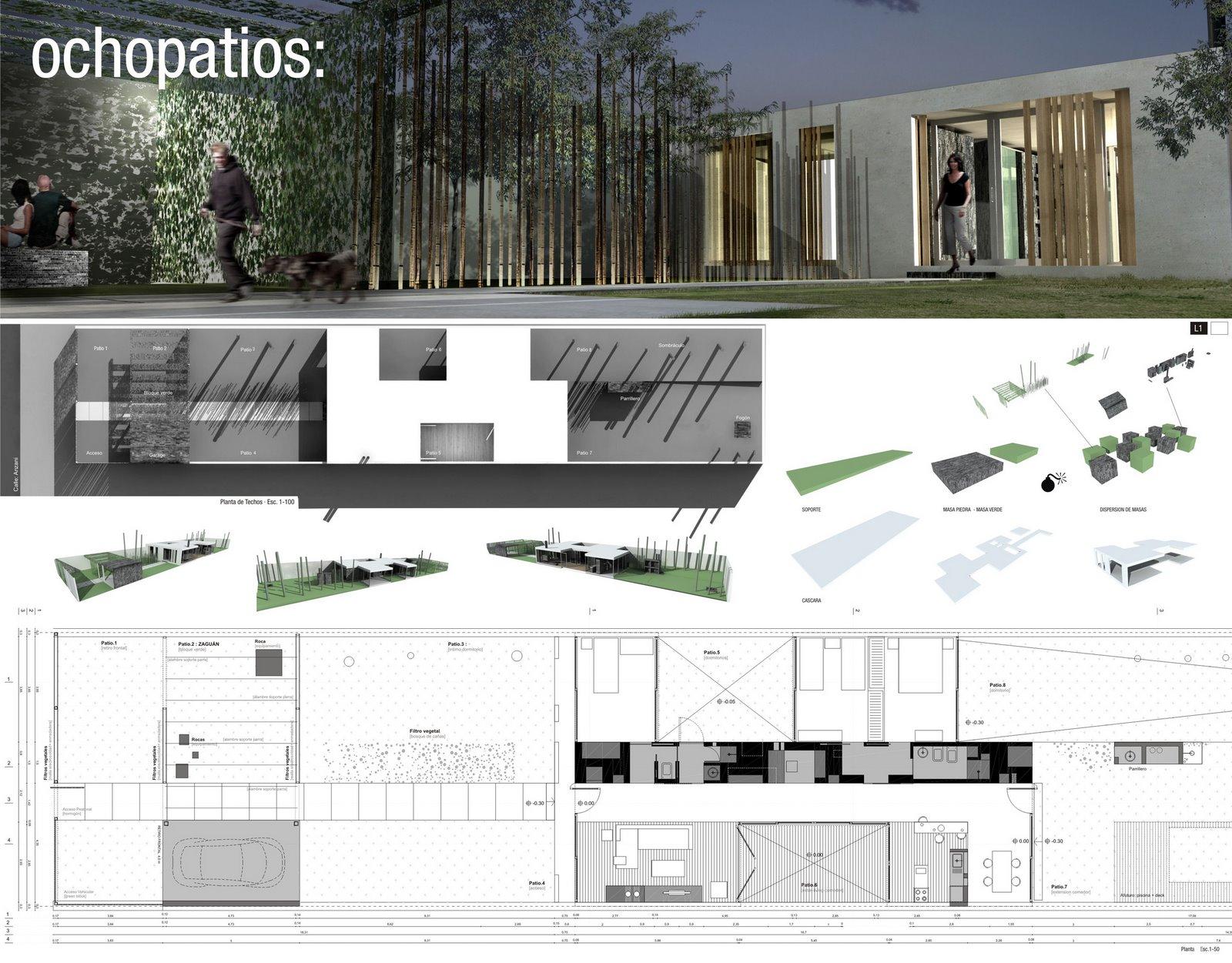 Casa 2006 casa de arquitectura rifa for Laminas arquitectura