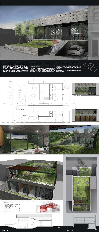 Casa 2007 casa de arquitectura rifa for Laminas arquitectura