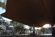 Estación de Ómnibus de Salto, Ing. Dieste, E. Salto, 1974. Foto de Silvia Montero, 2006
