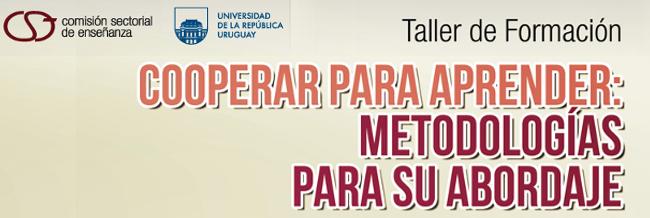 """Taller de formación: """"Cooperar para aprender: metodologías para su abordaje"""""""