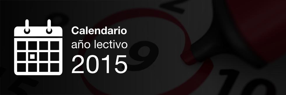 Calendario Año Lectivo 2015 – 2do semestre
