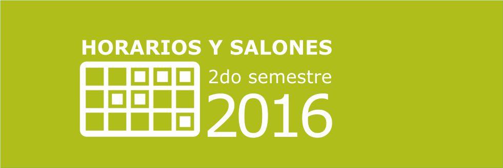 Grilla de horarios 2do semestre 2016