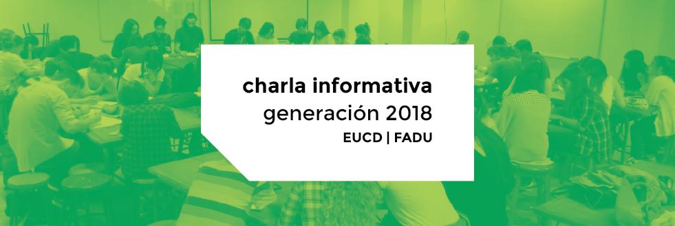 Charla informativa Generación 2018