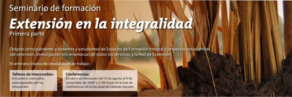 Extensión en la integralidad. Seminario de formación.