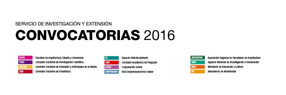 CRONOGRAMA DE CONVOCATORIAS 2016