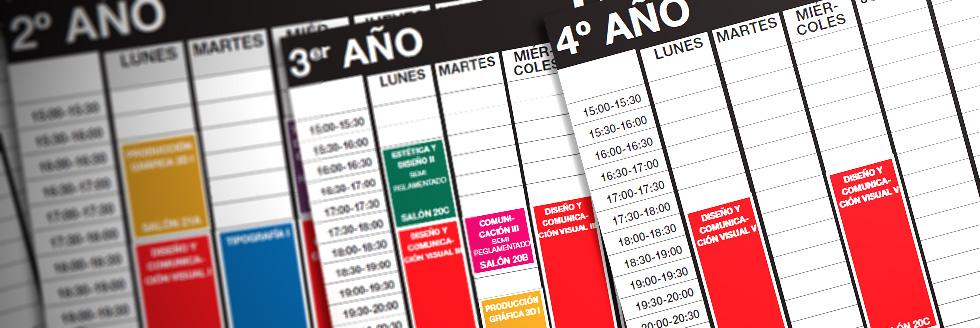 horarios y salones | licenciatura en diseño de comunicación visual