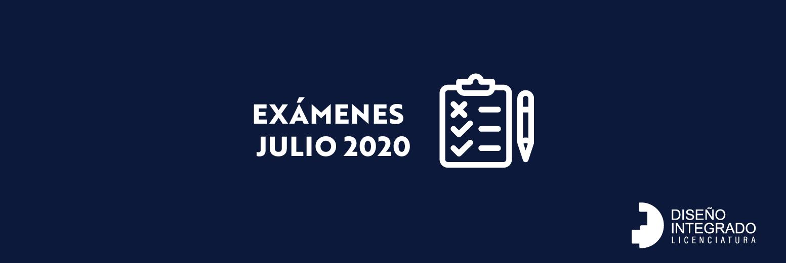Exámenes Julio 2020