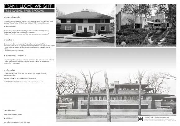 13_ Diego Solís & Valentina Moreira - Frank Lloyd Wright - Tres casas tres épocas -