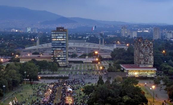 05. Campus de Ciudad Universitaria, UNAM. Foto: Página de la Universidad Nacional Autónoma de México. 2014