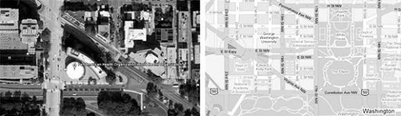 """Washington D.C. + Calle 22, 23, Virginia Avenue, y calle """"E"""" &. 38°53'46.65""""N, 77° 2'58.67""""O"""