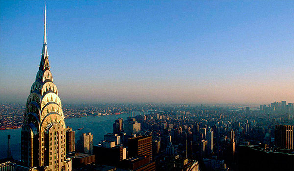 Vista Aérea De Nueva York Y El Chrysler Building