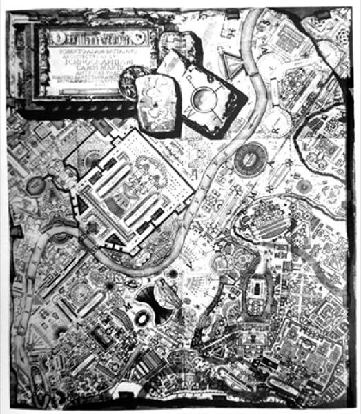 02. G.Piranesi. SXVIII. Italia. Reconstrucción del Campo Marzio de la Antigua Roma. La arquitectura de la realidad (Monestiroli)