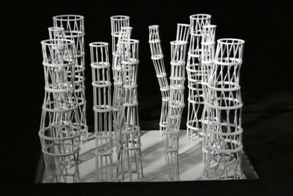 Maqueta de los 13 pilares estructurales