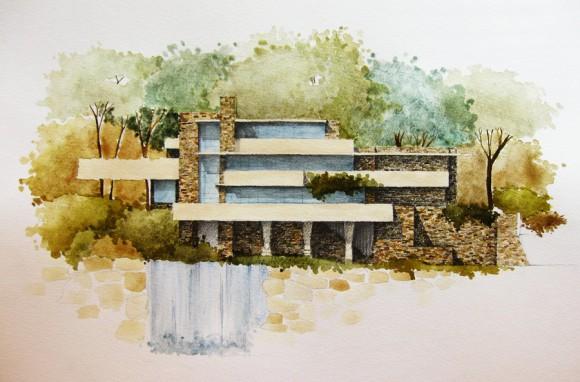 Dibujo de fachada. http://bit.ly/1zO8HSU