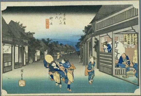 01. Grabado Hiroshigue. Foto: bit.ly/1EMSVrG