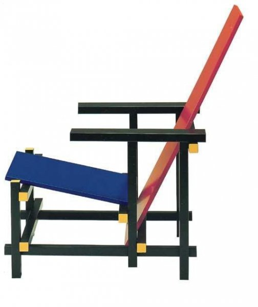 Red Blue Chair c. 1923 - Gerrit Rietveld