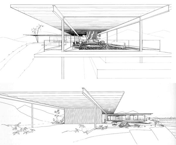 Casa Stahl, perspectivas de acceso con volado