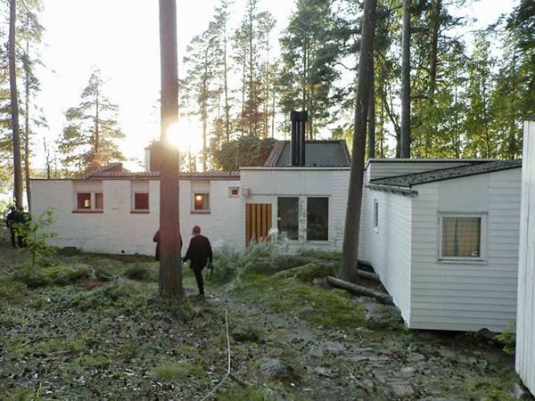Imagen de los pabellones de madera