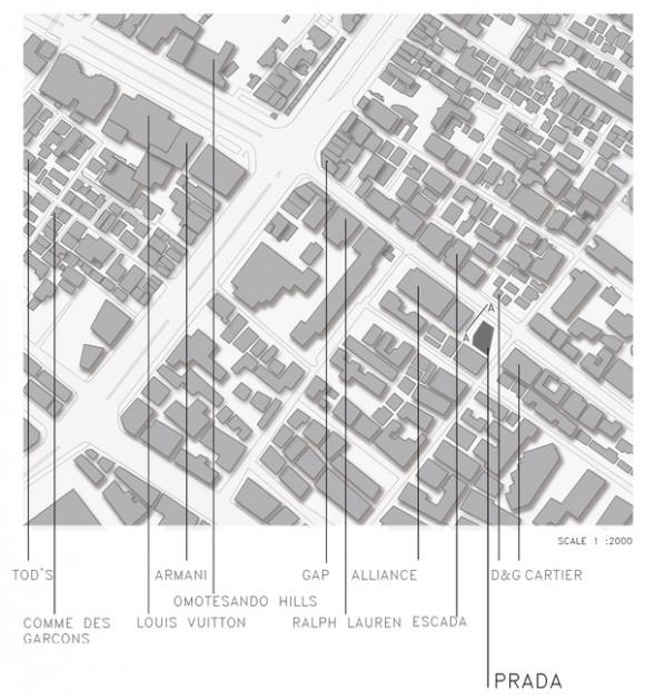 Prada Aoyama Flagship store por Herzog & de Meuron