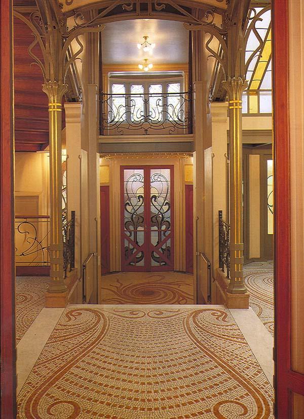 Foto del vestíbulo hacia el acceso