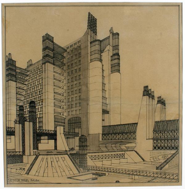 01. Dibujo de Sant'Elia. Foto: Wikipedia.