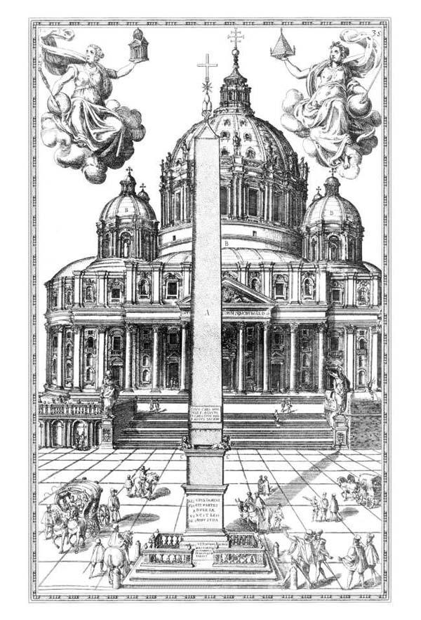 07. Obelisco erecto frente a la Catedral de San Pedro.