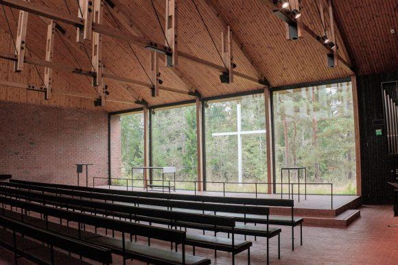 Figura 5: vista interior hacia el altar, Capilla de los Estudiantes