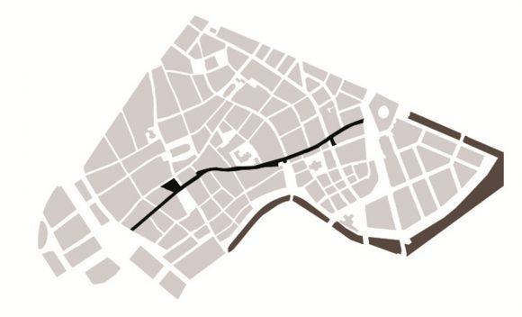 Figura 2: Peatonalización en el centro urbano de Copenhague al año 1962
