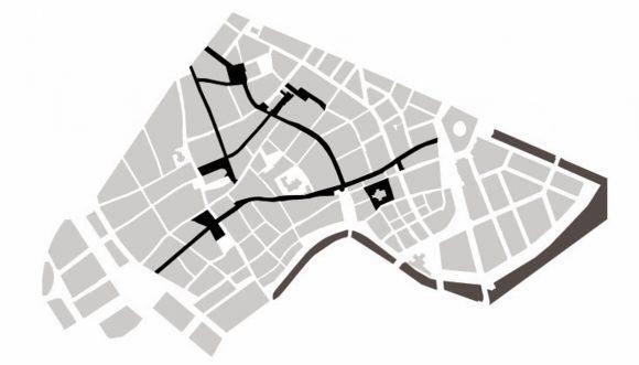 Figura 4: Peatonalización en el centro urbano de Copenhague al año 1980.
