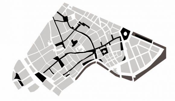 Figura 6: Peatonalización del centro urbano de Copenhague al año 2005