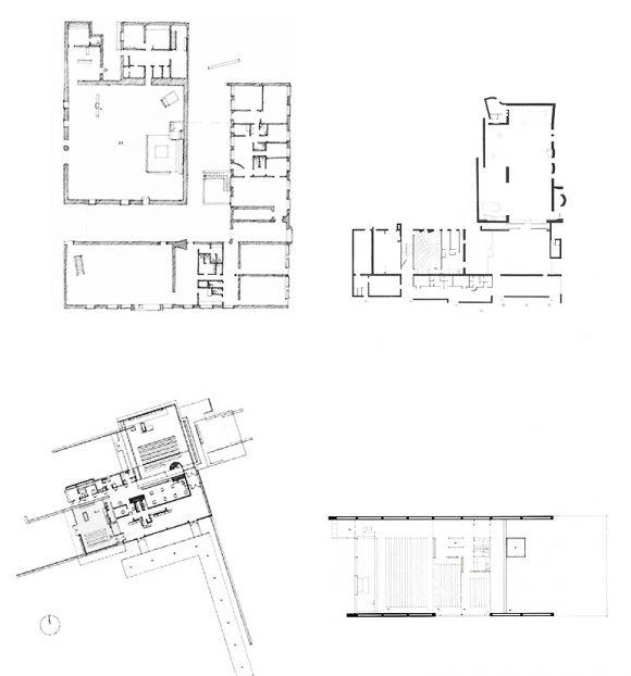 Figura 7: plantas, de izq. a derecha: St. Petri, St.Mark, Capilla de la Santa Cruz, Capilla de los Estudiantes