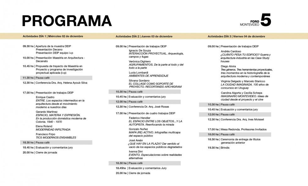 programa foro 5-01-01
