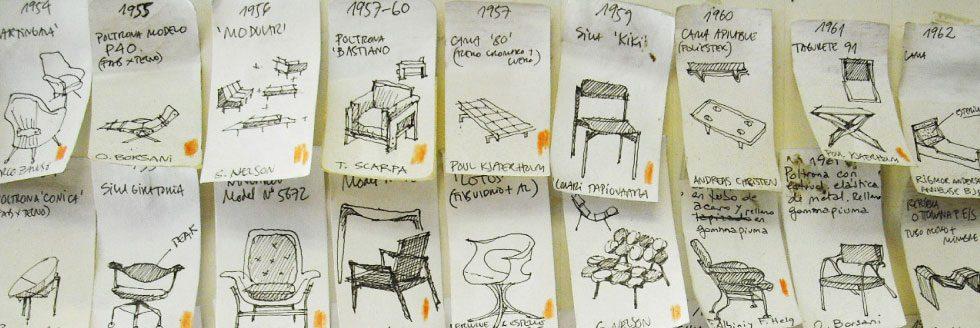 """Presentación del libro: """"Cronomueble. Cronología comparada del diseño del mueble, 1750-1999""""."""