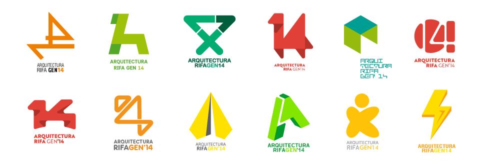 Concurso Logotipo – Arquitectura Rifa Gen 2014 | Muestra de proyectos preseleccionados
