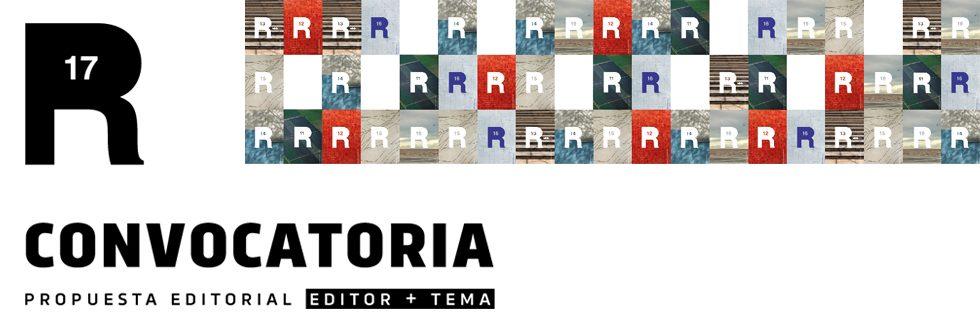 Llamado a Editor Temático – Revista R17