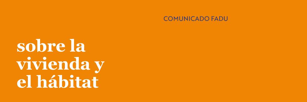 Comunicado FADU