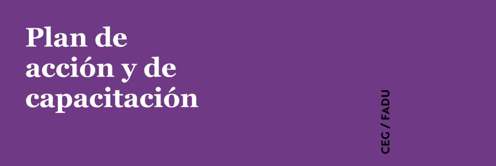 Plan de acción y de capacitación en género