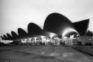 Terminal Municipal de Omnibus Salto, Ing DIESTE Eladio, proyecto de Arq. Minutti, Néstor. 1973-1974. Salto, Uy.  Foto original del Estudio Dieste & Montañez