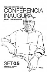Conferencia inaugural Prof. Gui Bonsiepe